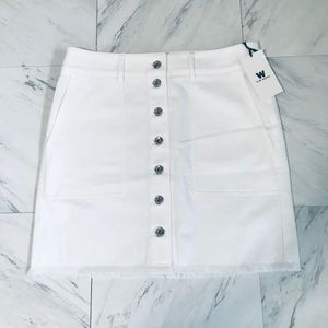 W by Worth Button Down Skirt